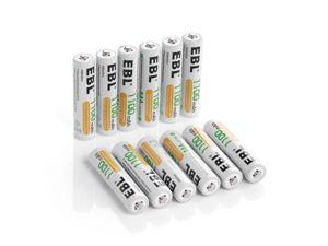 12x   1.2V 1100mAh AAA Rechargeable Batteries R03 Ni-MH Battery + Battery Case
