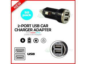 50X USB Car Charger 2-Port Adapter for iPhone 12 / 12 Mini/12 Pro/12 Pro Max/SE