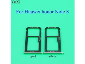 YuXi For Huawei honor Note 8/Note8 SIM Card Tray Holder Slot Adapter Socket SIM Replacement Parts gold silver color