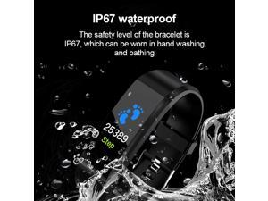 Fitness Tracker Blood Pressure Waterproof IP67 Wrist Band Bracelet 115Plus Smart Band Sport Health Pedometer For Android IOS