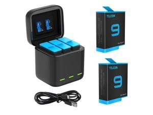 For GoPro 9 Battery Charger 3 Way Smart Charging Case Go Pro Rechargeable Battery Storage Box For Gopro Hero 9 Accessories