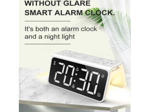 Digital 7 Colors Change LED Digital Alarm Clock Night Light Colorful Changing Clock Snooze Function Alarm Clock Wake Up Lamps