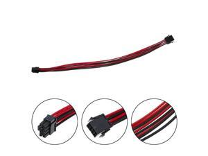 40cm Sleeved Graphics Card PCI-E GPU 8Pin to 6+2 Pin PCI-E Power Extension Cable