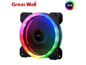 Great Wall PC Case Fan PWM 4pin RGB Adjust LED Cooling Fans for PC Fan 120mm Silent Heatsink 12V AURA SYNC Computer Cooler Fan