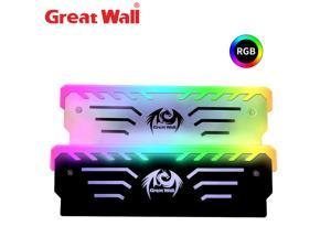 Great Wall 3PIN Memory Cooling Vest 256 RGB Automatic Light Radiator CPU Cooler Aluminum Heatsink for Computer RAM DDR3 DDR4