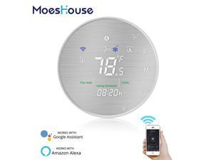 Smart Heat Pump 24V Thermostat Temperature Controller Smart Life/Tuya APP Remote Control,Works with Alexa Google Home