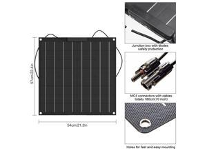 Black 50w flexible  panel made of 50w , outdoor travel power generation