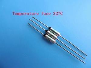 100pcs Temperature fuse 227C 10A 250V RY227 Temperature Thermal Fuse 227 degree