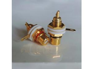 RCA female Connector Gold plug Audio Terminal Panel Mount Chassis Audio Socket Plug Amplifierut solder cup