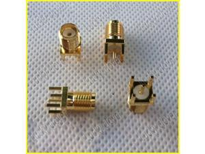 gold plated PCB Mount Right angle SMA Female Plug Straight RF connector Adapter  rp-sma