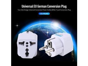 1pc 250V 10A 800W Universal EU Plug Adapter White Travel Converter Conversion Plug European Germany Power Socket Outlet Adapter