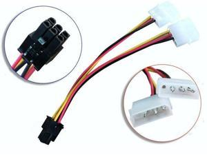 IDE Molex to 6Pin 6 Pin PCI Express PCI-E Video Card Power Adapter Cable