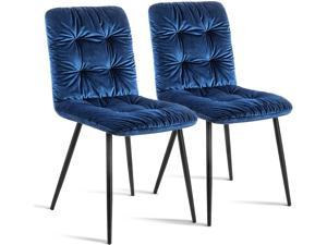 Ivinta Modern Dining Chairs Kitchen & Dining Room Chairs Mid Century Velvet Accent Chair Living Room Chairs Armless Chairs