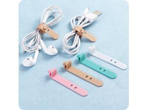 4pcs/lot Silicone Cable Winder Earphone Data Line Mouse Keyboard Cable Cord Organizer Holder Winder for Phone Computer Accessory
