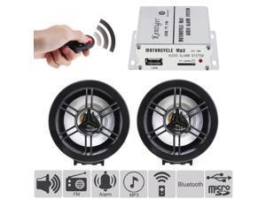 12V 2x10W Universal HI-FI Bluetooth Anti-theft Sound Car MP3 FM Radio Player Waterproof Auto Speaker Support SD /  Input