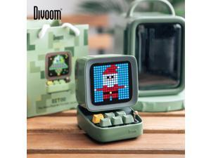 Divoom Ditoo Retro Pixel art Bluetooth Portable Speaker Alarm Clock DIY LED Display Board,Valentine's Gift Home light decoration