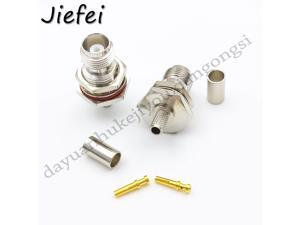 100PCSLOT TNC jack crimp RG58 LMR195 RG142 cable with nut RF female CONNECTOR Selling