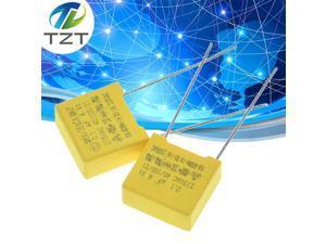 safety cap 275V104K 10MM Polypropylene film 275V 104K 0.1uf X2 safety capacitor 275VAC capacitors 275V104 capacitance