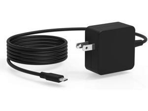 7.5Ft 45W Type USB C AC Charger Fit for HP ADP-45VE BB PA-1450-33HD PA-1450-33HP PA1450-33HQ TPN-LA06 TPN-LA07 6JA25UA Z3Q87UT 1MZ01AA#ABA 1HE07UT#ABA Laptop Power Supply Adapter Cord
