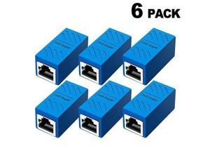 Coupler Ethernet Cable Extender Female to Female Cat6 Inline Couplerin Cat5 Connectors for Cat7Cat6Cat5Cat5e Ethernet Extension Cable 6Pack Blue
