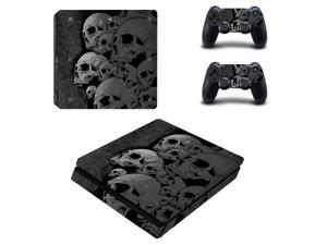 For PS4 Slim Vinyl Sticker For Sony Playstation 4 Slim Console+2 controller Protetive Sticker case For PS4 Slim Accessories