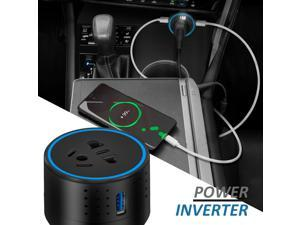 DC 12V To AC 110V Car Power Inverter + Dual 2 USB (QC3.0 + 3.1A) Car Charger Phone Laptop ipad 100W Inverters Converter Adapter