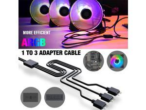 1 To 3 Connector Splitter Cable Adapter Cable Flexible Durable 3pin Needle Female Cable for Addressable RGB LED Fan Strip Light
