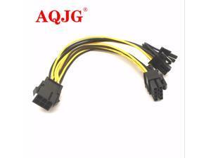 10pcs/Lot 6-pin PCI Express to 2 x PCIe 8 (6+2) pin Motherboard Graphics Video Card PCI-e GPU VGA Splitter Power data Cable
