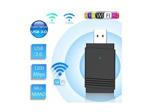 EZCAST AC1200 USB Wireless WiFi WLAN Network Adapter 1200Mbps Dual Band 2.4G/5G with Bluetooth 5.0 Receiver & Transmitter for PC Laptop