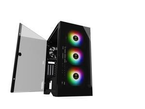 Gigatech Gaming Omega 3 Gaming Desktop - Core i7-10700 8-Cores 16-Threads 4.8GHz Boost - RTX 3060 TI - 8GB DDR4 3200MHz, 1TB PCIe NVMe SSD, 1TB HDD, Built in Wi-Fi, RGB, Windows 10