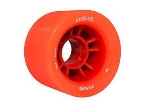 Skates | Evolve Roller Speed Skating Wheel | Skate Indoor Quad | Set of 4 Orange 98A