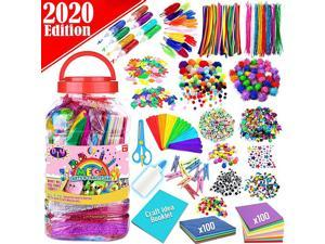 Arts and Crafts Supplies for Kids Assorted Craft Art Supply Kit for Toddlers Age 4 5 6 7 8 9 All in One DIY Crafting Collage Arts Set for Kids Jumbo