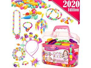 Snap Pop Beads for Girls Toys Kids Jewelry Making Kit PopBead Art and Craft Kits DIY Bracelets Necklace Hairband and Rings Toy for Age 3 4 5 6 7 8 Year Girl Old