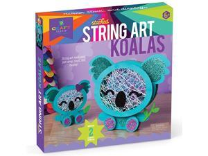 Stacked String Art Koalas Craft Kit Makes 2 Cute Koalas