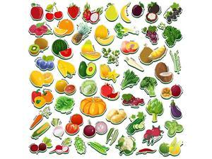 59 PCS Fruits amp Veggies Magnets for Toddlers Kids Perfect for Preschool Learning