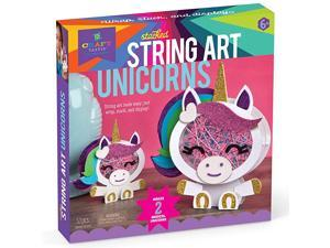 Stacked String Art Unicorns Craft Kit Makes 2 Magical Unicorns