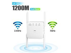 Weastlinks 5G Wireless WiFi Repeater Wi Fi Booster 1200Mbps Internet Signal Booster Amplifier Ethernet Port for Travel Wlan Router/Home AP