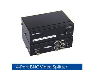 Weastlinks 4 ports BNC video splitter 1 in 4 out security surveillance camera HD analog video splitter with power MT-104BC