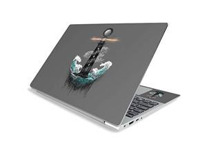 """Mighty Skins Mightyskins Skin For Lenovo Ideapad S340 15"""" (2019) - Wave Anchor   Protective, Durable, And Unique Vinyl Decal Wrap Cover   Easy To Apply, Remove, And Change Styles   Made In The Usa"""