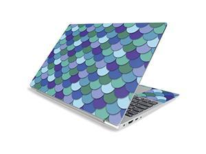 """Mighty Skins Mightyskins Skin For Lenovo Ideapad S340 15"""" (2019) - Blue Scales   Protective, Durable, And Unique Vinyl Decal Wrap Cover   Easy To Apply, Remove, And Change Styles   Made In The Usa"""