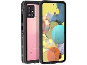 Compatible With Galaxy A51 5G Waterproof Case (Not Fit A51 4G Version), Built In Screen Protector Full Body Protection Shockproof Bumper Dustproof Cover For Samsung Galaxy A51 5G, Black/Clear