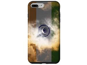 Iphone 7 Plus/8 Plus India Flag Cloudy Sky With Crescent Moon - Indian Pride Case