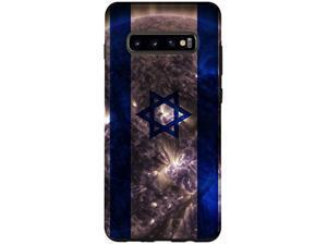 Galaxy S10+ Israeli Sun - Artistic Israel Flag Case