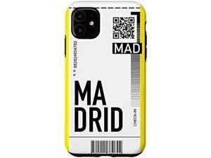 Iphone 11 Madrid Air Ticket Phone Case Boarding Pass Souvenir Pink Case