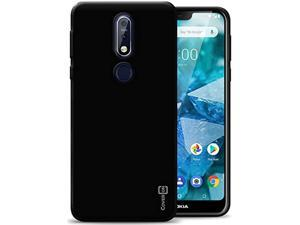 Slim Fit Tpu Rubber Flexguard Series For Nokia 7.1 Case, Gloss Black