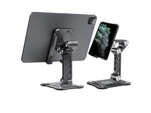 Gigbird Foldable Mobile Phone Stand [New in 2021] Angle Height Adjustable Desktop Mobile Phone Holder, compatible with Phones Tablets Nintendo Switch Kindle Black