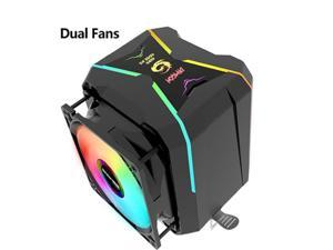 CPU Cooler RGB 90mm PWM  Dual Fan Cooling For Intel LGA1150 1151 1155 1156 775 AMD AM3 AM4 Cooler RGB CPU Cooler For PC