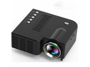 2021 Newest Design Portable HD 1080P 10W Apriciti Mini Video Projector LED Home Theater Projector USB / TF / AV Mini LED Digital Mini Video Game Projector Multimedia Player(No HDMI Required)