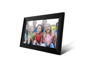TakeIt WiFi Digital Picture Frame 10.1 inch Digital Photo Video Cloud Frame 16GB HD 1080P 800x1280 IPS LCD Touch Screen Auto-Rotate Adjustable Brightness Black