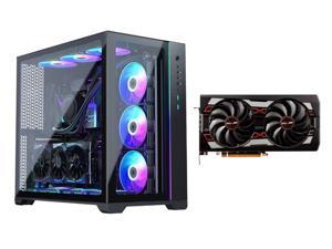 MetallicGear NEO Qube, Dual Tempered Glass Design, Dual Chamber ATX Mid-Tower Case + SAPPHIRE PULSE Radeon RX 5700 XT 100416P8GL 8GB Video Card